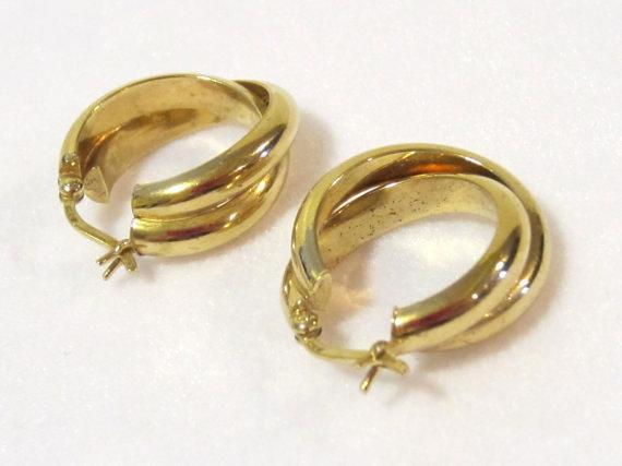 Sterling silver 925 Goldtone earrings