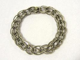 Antique vintage sterling silver bracelet 8.4'' Long - $55.00