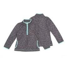 Faded Glory Girls Micro Fleece 1/2 Zip Pullover MEDIUM (7-8) Embossed Ch... - $12.86