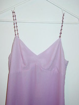 Express purple dress ombre fade beaded straps 100% silk-5/6-NEW $88. image 2