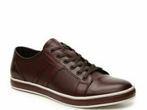 Kenneth Cole Faux Leather Brown Dress Sneakers NIB
