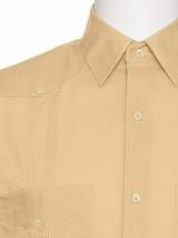 Men's Gentlemens Collection Traditional Short Sleeve Peach Guayabera Shirt 3XL image 2