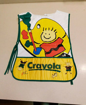 Vintage Crayola Plastic Apron Girls Boys Arts & Crafts Paint Smock Cover - $9.85