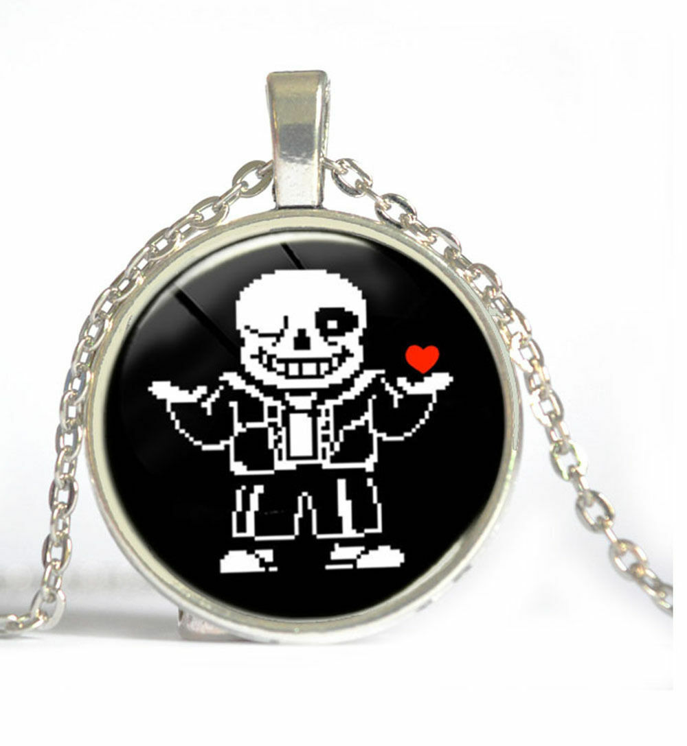 UNDERTALE GRIN CABOCHON NECKLACE   (8631)   >> USA SELLER  - $2.97