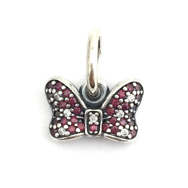 Authentic Pandora Disney Minnie's Sparkling Bow Dangle Charm, 7915566CZR New - $53.19