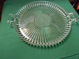Beautiful Large  Glass  BUBBLE & SWIRL Design D... - $12.46