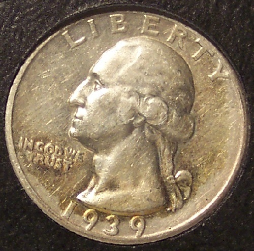 1939-S Silver Washington Quarter AU+ #634
