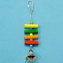 "Bird Brainers 22141 Small Bird 5 Beads, 4 small Dowel, Bell, 7"" x 1 1/4 x 1 1/2"