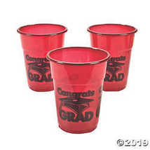 Burgundy ¡°Congrats Grad¡± Disposable Cups - $10.36