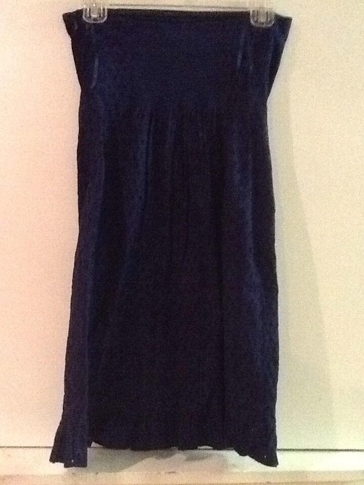 Old Navy Blue Eyelet Lace Strapless Dress Sz 4