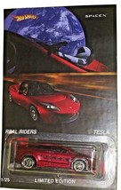 Red TESLA X CUSTOM Hot Wheels with Real Rider Limited Edition Collectible - $115.14