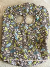 Eddie Bauer Boys Gray Green Blue Leaves Reversible Fleece Shopping Cart ... - $16.93