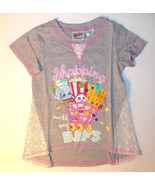 Shopkins Girls T-Shirt Shopping With My BFF'S Size XSmall 4-5 NWT - $13.99