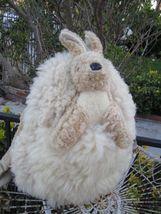 Ausfurs Sheepskin Backpack Large Strap Wool Handbag Purse Tote Bag Tan A... - $65.99