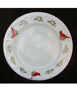 "Gibson Winter Bird Red Cardinal Berry dinner plate 10"" great shape - $7.50"