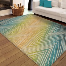 Transitional Contemporary Indoor Outdoor Area Rug **FREE SHIPPING** - €104,36 EUR+