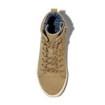 Cat & Jack Boys Tan Micro Suede Romar Zip-Up Laced Hi-Top Sneakers NWT image 3