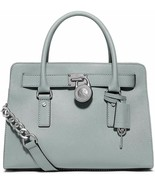 MICHAEL KORS HAMILTON DUSTY BLUE SILVER SAFFIANO LEATHER EW SATCHEL BAGNWT - $199.99