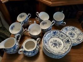 Johnson Bros.INDIES Blue White Set Of 32 - Cups Bowls Creamer Sugar Bread - $225.00
