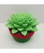egbhouse, Handmade succulent plant NO 3 with colorful earth pot candle h... - $26.72