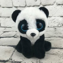 Ty Beanie Boo Ming Panda Plush Black White Sitting VelveTy Teddy Bear Toy - $7.91