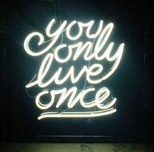 "New You Only Live Once Beer Bar Neon Light Sign 24""x20"" Ship From USA - $208.00"