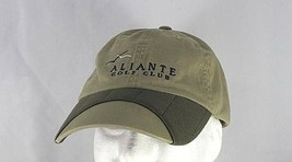 Aliante Golf Club Tan/Olive Baseball Cap Adjustable - $21.99