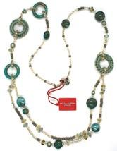 Necklace Antique Murrina, CO813A08, 90 cm, Green, Circles Discs Crochet,... - $134.99