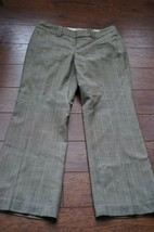 banana republic SZ 6P Petites Jason fit dress pants windowpane plaids wo... - $17.09