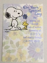 Hallmark Snoopy and Woodstock Thank You Card  - $2.50