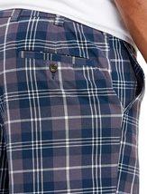 Men's Classic Fit Flat Front Cotton Plaid Stripe Pattern Lightweight Shorts image 7
