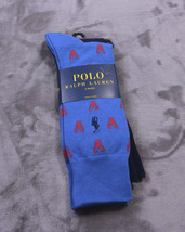 2 Pair Polo Ralph Lauren Socks 7-12 Ctn Bld Lobsters New - $22.22