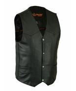 Men's Single Back Panel Concealed Carry Bike Motorcycle Vest by Daniel S... - $83.95