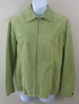 Chico's 100% Leather Suede Green Women's Jacket Size Zero - Very Good Co... - $24.95
