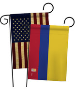 Colombia - Impressions Decorative USA Vintage - Applique Garden Flags Pa... - $30.97