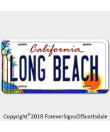 Long Beach California City/College Vanity License Plate White - $12.82