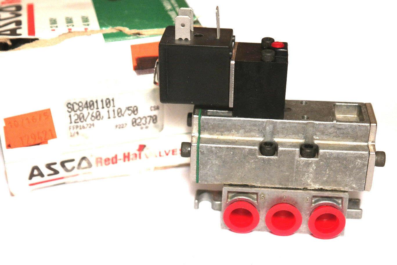 NEW ASCO SC8401101 PNEUMATIC VALVE ASSEMBLY 110/120V, 50/60HZ - $135.00