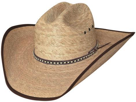 Primary image for Bullhide Wide Open 15X Palm Leaf Straw Cowboy Hat Bound Brim Cattleman Natural