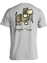Puppie Love Rescue Dog Adult Unisex Short Sleeve Cotton Tee,Army Camo Pup
