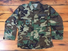 US Air Force USAF Military Air Mobility Command Woodland Camo Shirt Small Short - $47.99