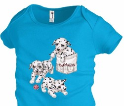 DALMATIAN POCKET  Infant Baby Snapsuit one-piece Unisex Girl Boy Funny K41 - $12.99