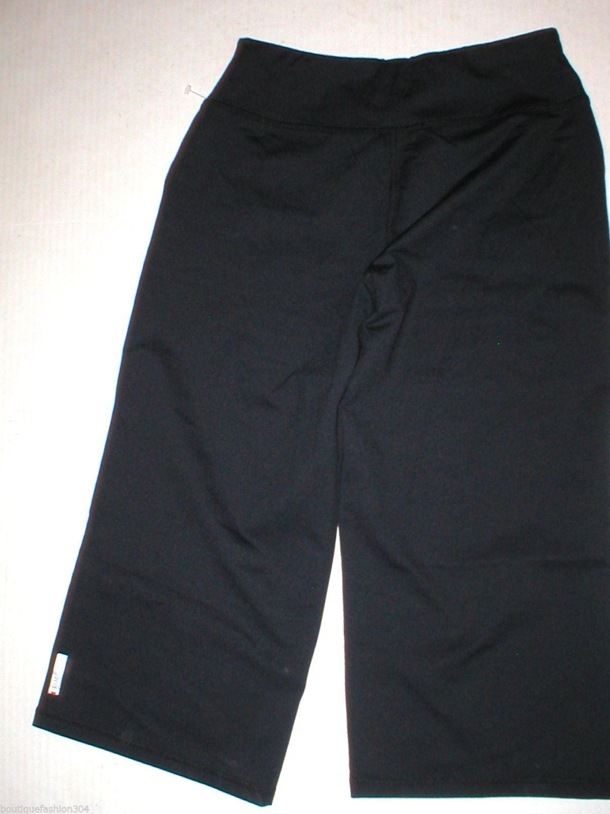 Women New Zella Nordstrom Pants Gym 0 Black Crop Capri Soul 2 Barre Yoga Pilate image 4