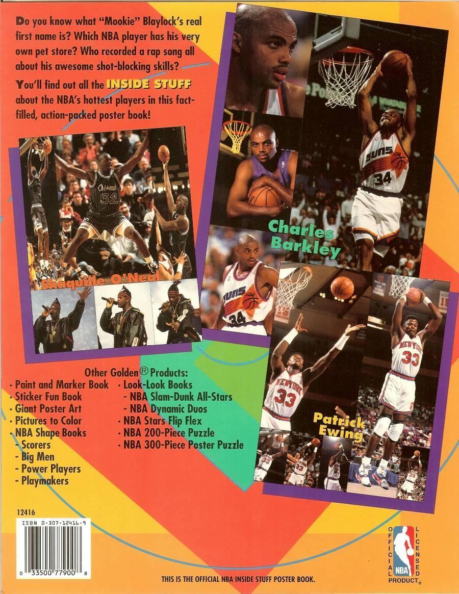 1993 nba inside stuff poster baseketball book