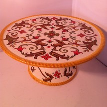 PIER 1---ORALIA---FOOTED CAKE PLATE / STAND--SHIPS FREE---EUC - $34.36