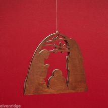 Laser Wood Ornament Flourish Large   Nativity image 3