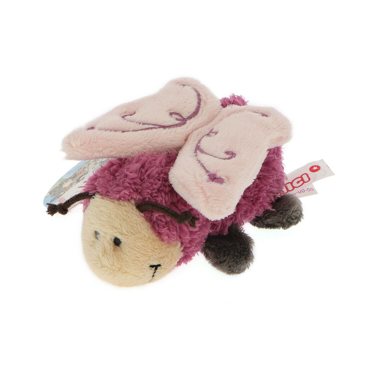 Primary image for MagNICI Butterfly Fuchsia Pink Wing Stuffed Toy Animal Magnet in Paws 5 inches