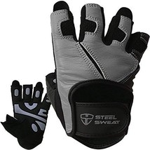 Steel Sweat Workout Gloves - Best For Weightlifting Gym Fitness Training And - - $35.31