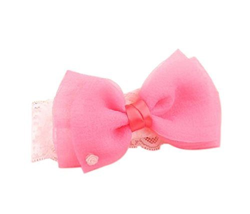 Cute Red Big Bow Girl Headdress Lace Headband Baby Accessories