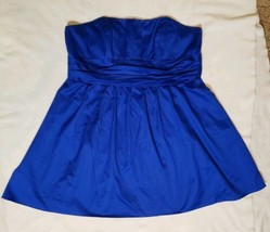 DAVIDS BRIDAL 83312 size 24 Bridesmaid Dress Wedding Strapless Horizon Blue - $29.02
