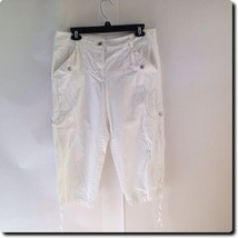 Ann Taylor White Cotton Capri Pants 10 - $18.78